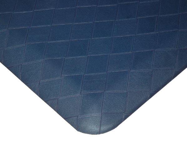 navy cavalier designer basketweave kitchen mats are kitchen floor mats by      rh   americanfloormats com