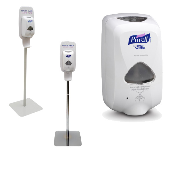 Purell Touch Free Floor Stands
