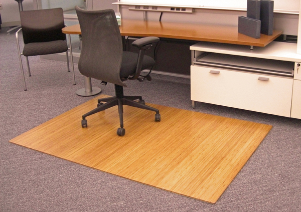 Bamboo Roll Up Chair Mats Are OfficeDesk By