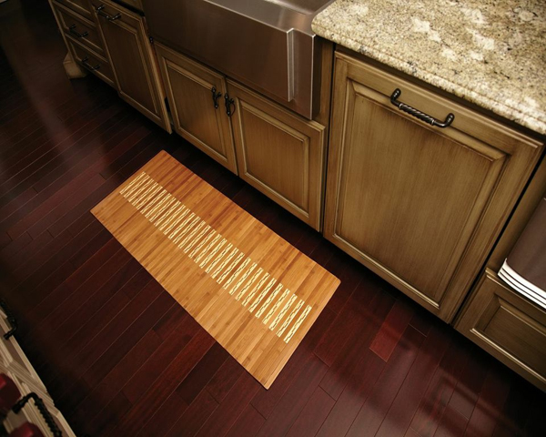 Bamboo kitchen mats are bamboo mats by american floor mats - Bamboo flooring in kitchen and bathroom ...