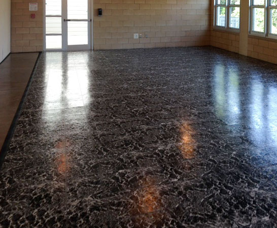 Black Marble Dance Floor Tiles Are Interlocking Dance