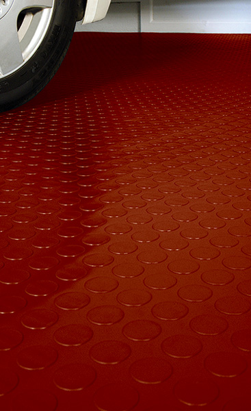 Rubber Garage Floor Mats >> Coin Pattern Garage Flooring and Coin Pattern Roll-Out Flooring by American Floor Mats