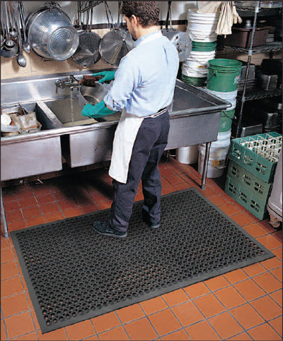 Commercial Restaurant Kitchen Mats are Drainage Kitchen Mats by ...