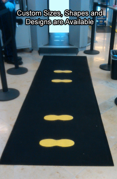 Tsa Security Line Screening Two Feet Floor Mats By