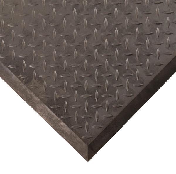 Diamond Plate Linkable Anti Fatigue Mats Are Interlocking
