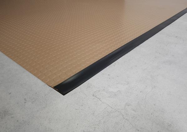Garage floor matting edge trim by american floor mats for Floor edge trim