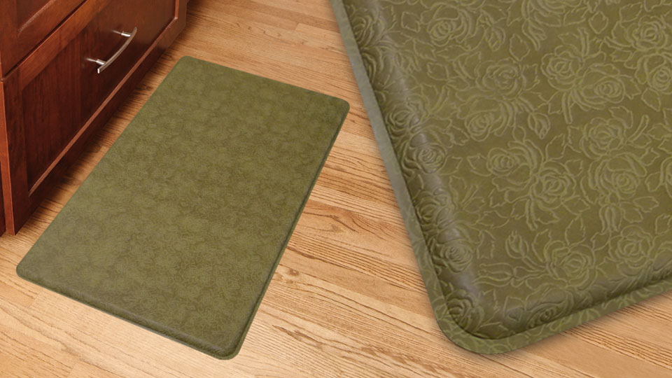 antifatigue memory foam kitchen mat assorted colors. sleep