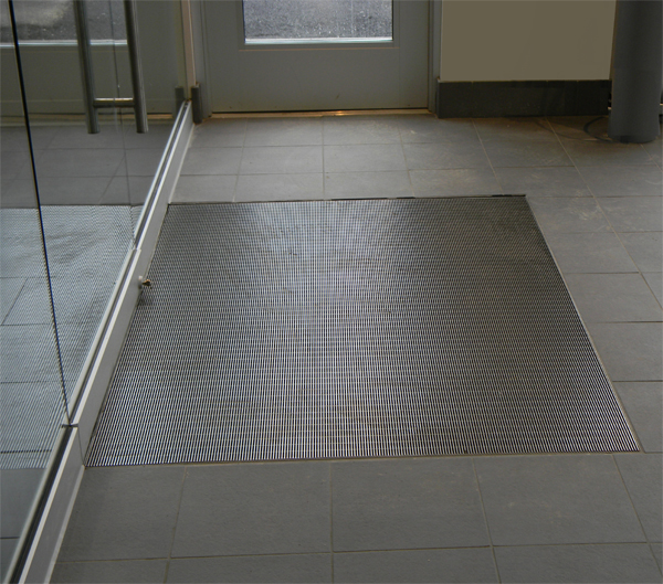 Stainless Steel Grid Recessed Metal Mats Are Gridline Mats