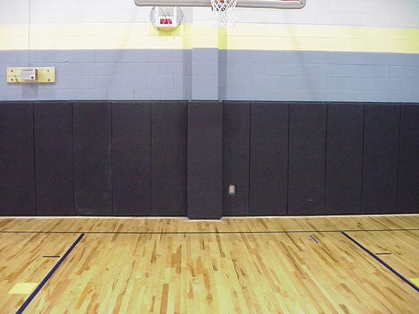 Gym wall pads are padding by american floor mats