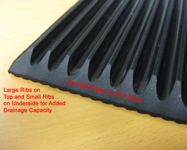 Heavy Duty Rubber Ribbed Mats By American Floor Mats