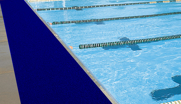 Vinyl mesh heavy duty pool mats are drainage by