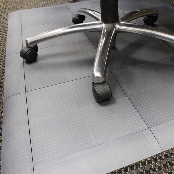 Interlocking Chair Mats Are Customizable Chair Mat Tiles