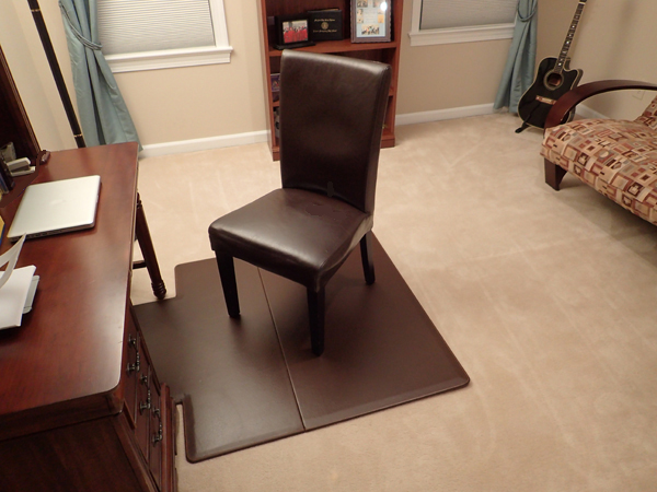 leather chair mats by american floor mats. Black Bedroom Furniture Sets. Home Design Ideas