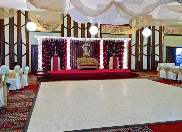 Luxury White Marble Dance Floor Tiles Are Interlocking Dance Floor