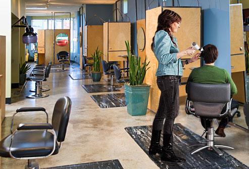 Marbleized Salon Mats Anti Fatigue Comfort Salon Mats