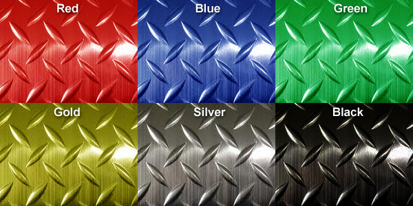Metallic Diamond Plate Runner Mats Are By