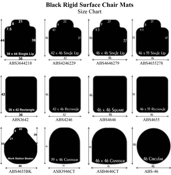 premium black chair mats - Chair Mat