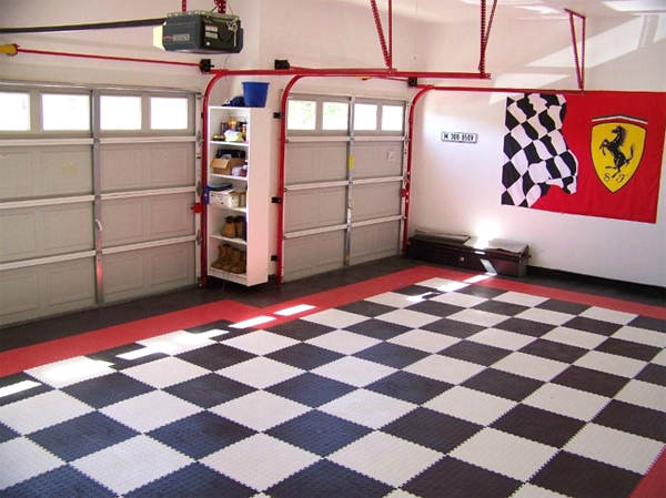 Premium Garage Tiles Are Interlocking Floor