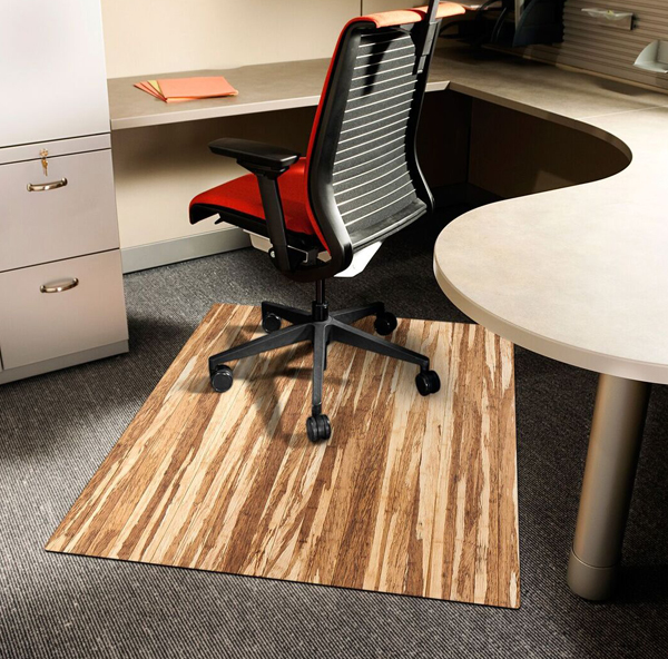 Stranded Bamboo Chair Mats Are Bamboo Desk Chair Mats By American Floor Mats
