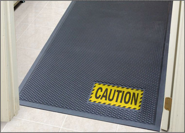Rubber Scraper Signage Mats Are Safety Message Mats By