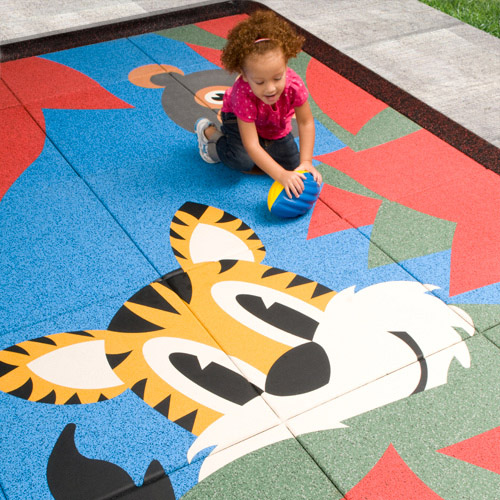 Vividplay Rubber Playground Flooring Tiles By American Floor Mats