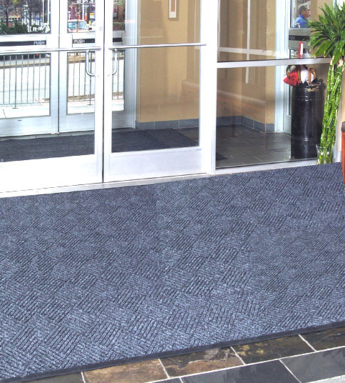 Waterhog Premier Entrance Mat Tiles Are Recessed Floor