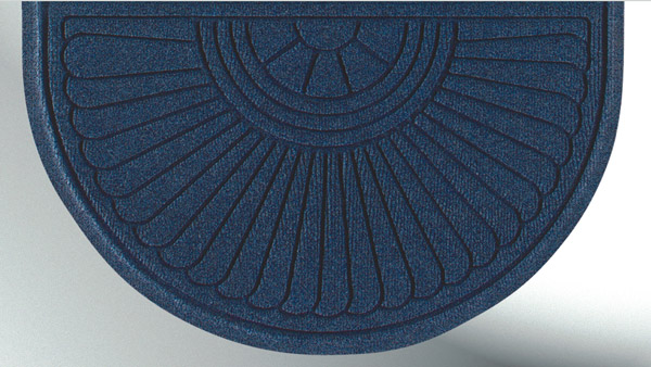 Half Oval Grand Premier Waterhog Entrance Mats Are