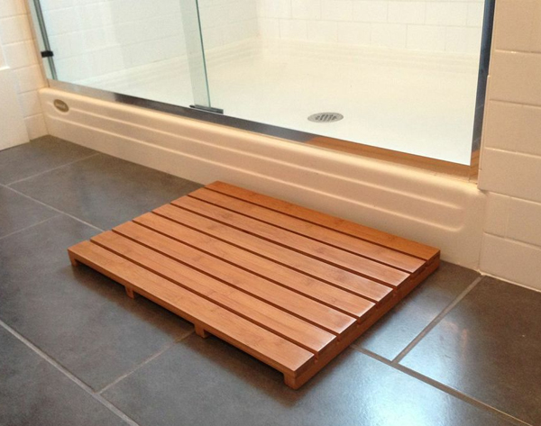 Wooden Bath Mats Are Wood Shower Mats By American Floor Mats