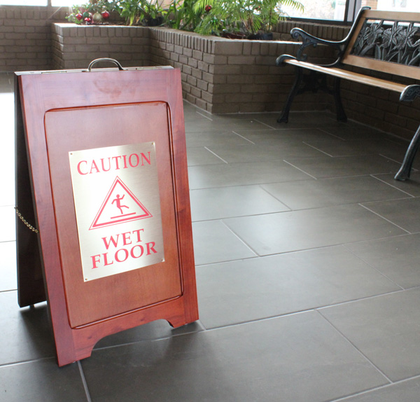 Wood Wet Floor Signs Are Wooden Stands