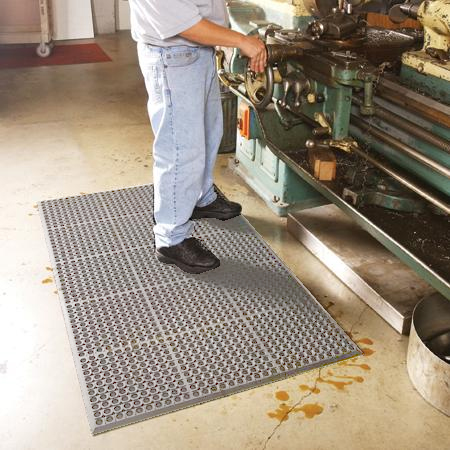 Worksafe Light Anti Fatigue Drainage Mats Are Worksafe