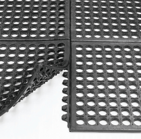 Electrically Conductive Interlocking Drainage Tiles