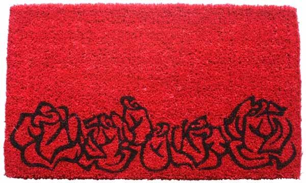Red Roses Cocoa Door Mats Are Door Mats By American Floor Mats