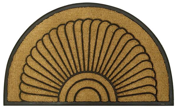 Shell Half Round Rubber Door Mats Are Door Mats By American Floor Mats