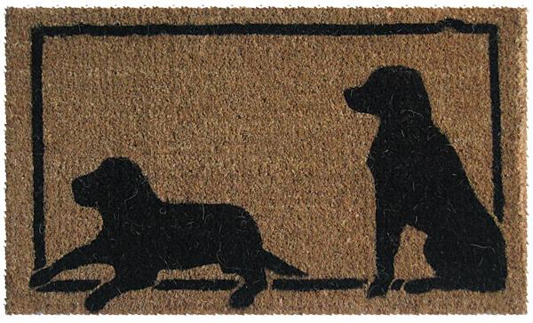 Two Dogs Silhouettes Are Door Mats By American Floor Mats