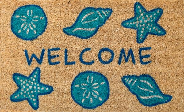 Shell Welcome Cocoa Door Mats Are Door Mats By American Floor Mats