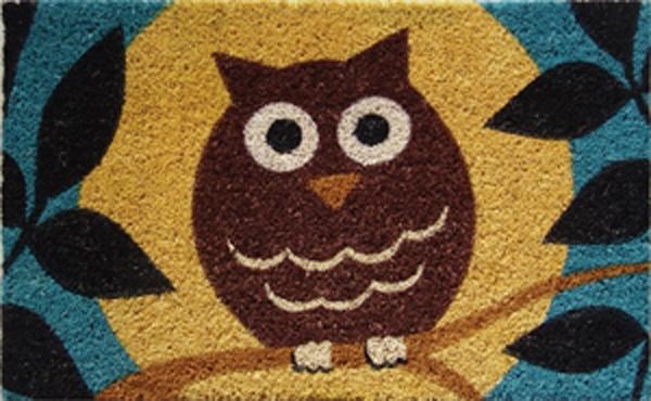 Wise Owl Cocoa Door Mats Are Door Mats By American Floor Mats