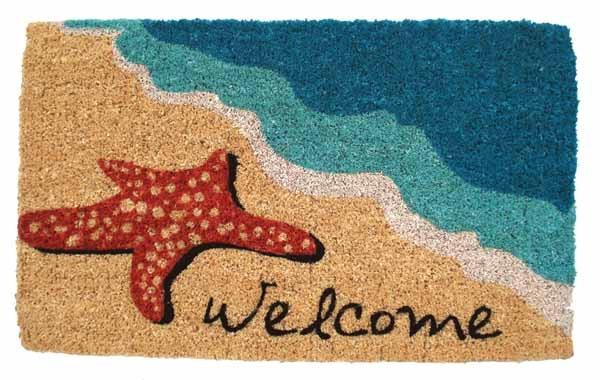 Starfish Cocoa Door Mats Are Door Mats By American Floor Mats