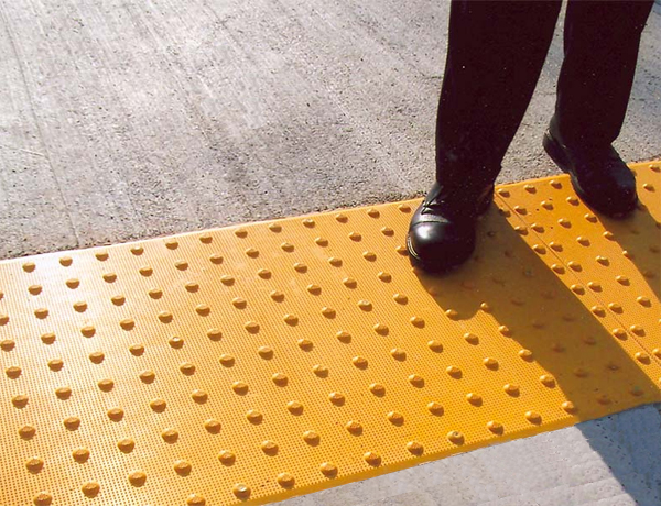 Ada compliant detectable warnings surface tactiles for Ada compliant flooring