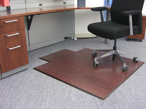 Static Mat For Office : Bamboo foldable chair mats are tri fold office