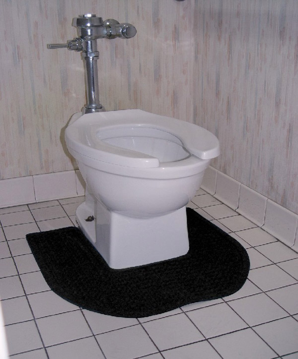 Bathroom Toilet Mats are Anti-Bacterial Commode Mats by American Floor ...