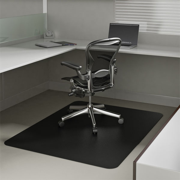 Black Chair Mats are Black Office Desk Mats by American Floor Mats