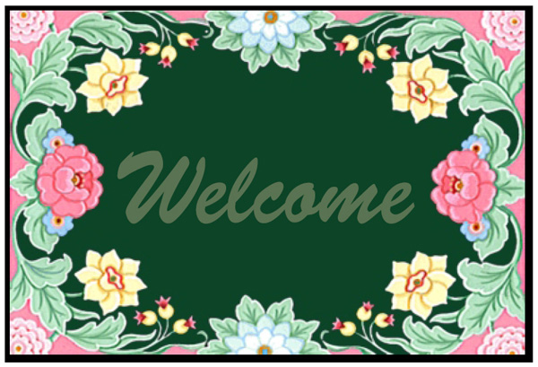 Floral Welcome Mats Are Welcome Rugs By American Floor Mats