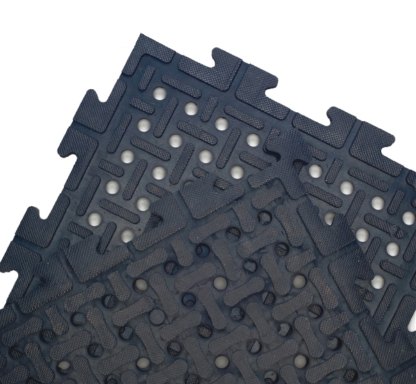 Drainage Rubber Matting Tiles Are Interlocking Rubber Mats By