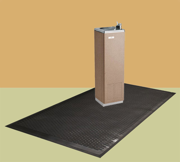 Drinking fountain mats are water by american