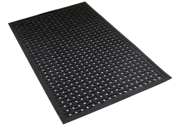 Rubber drainage mats are commercial kitchen mats for Commercial kitchen floor mats