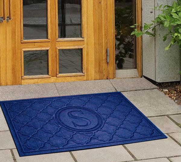 Monogrammed Floor Mats >> Monogrammed Waterhog Door Mats are Personalized Bombay