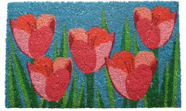 Field Of Tulips Non Slip Coir Doormats Are Doormats By