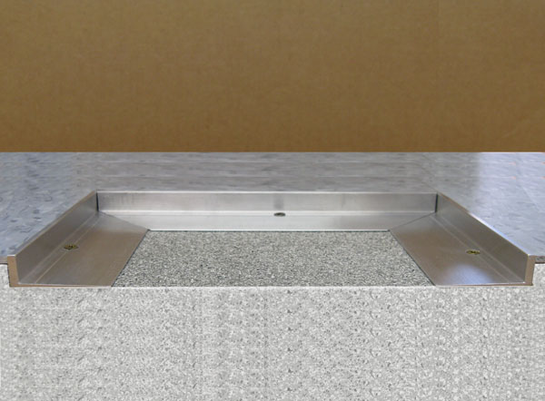 Recessed Floor Mat L Frame Is A Tapered Angle Metal Frame