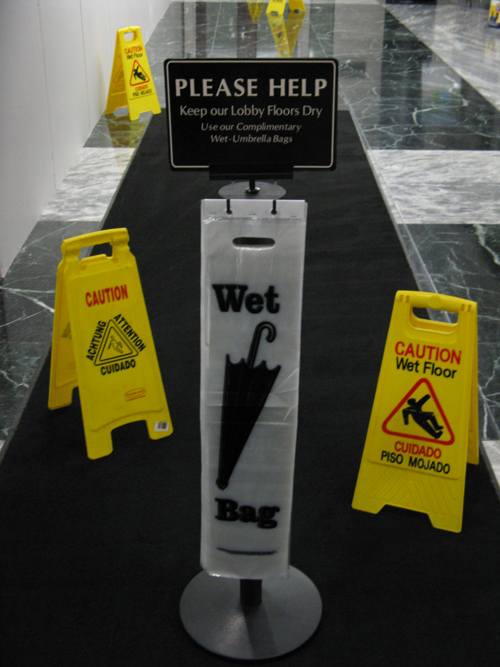 Wet Umbrella Bag Stands Are Umbrella Bag Dispensers And