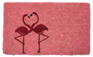 Flamingos Cocoa Door Mats